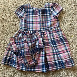 Ralph Lauren Pink&Navy plaid Dress